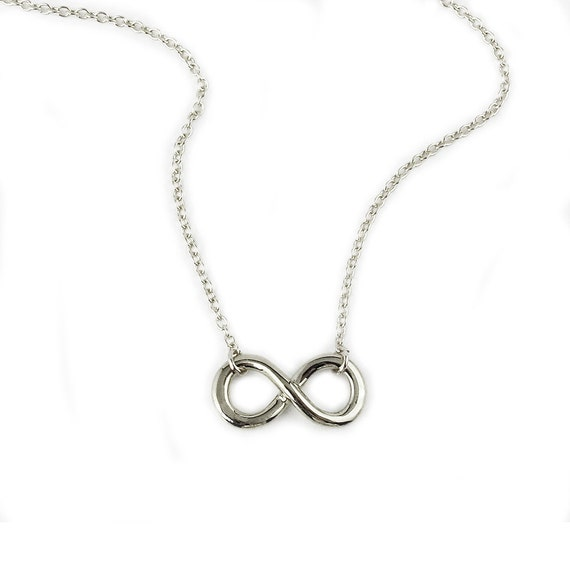 Infinity Necklace in Sterling silver-wedding, bridal party, anniversary, bridal shower gift