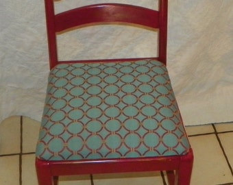 Red Painted Desk Chair / Sidechair (SC157)