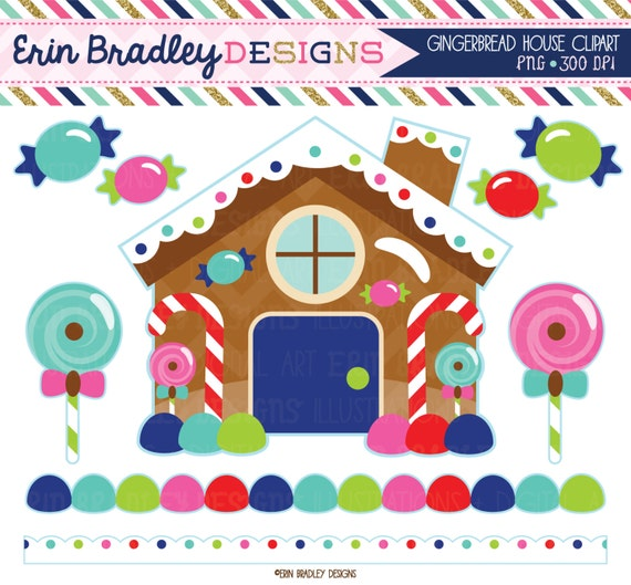 Gingerbread House Clipart Christmas Holiday by ...