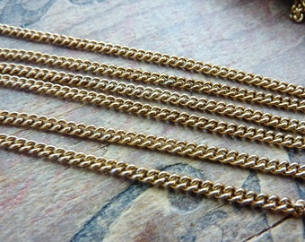 Chain Vintage Brass Plated Steel 2.6mm Curb Chain MC204