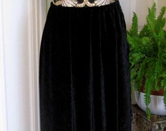 ON SALE/Metallic Brocade Evening Gown