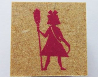 Studio Ghibli Kiki's Delivery Service Kiki Silhouette With Broomstick Japanese Rubber Stamp