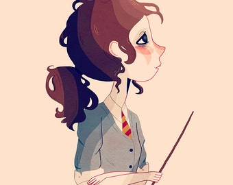 The Brightest Witch of Her Age - Illustration Print