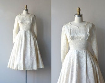 Signora wedding dress | 1950s wedding dress • vintage brocade 50s dress