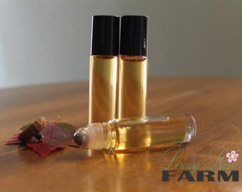 Perfume Oil- Fall Foliage, vegan, organic holiday perfume oil, fall perfume oil, Winter perfume oil, fresh orange, florals, soft woodsmoke