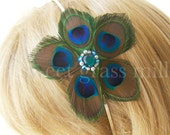 Petit Boheme Floret Peacock Headband Fascinator
