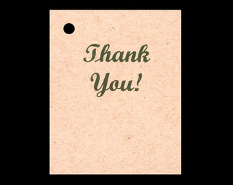 100 THANK YOU Hang Tags -100 Color Strings Included -  Price Tags