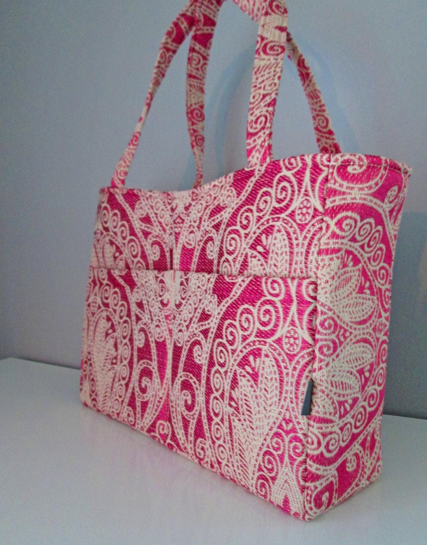 tote diaper bag tote handbag pink diaper bag large pink. Black Bedroom Furniture Sets. Home Design Ideas