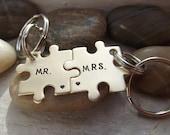 Mr and Mrs Puzzle pieces set, Nugold puzzle pieces