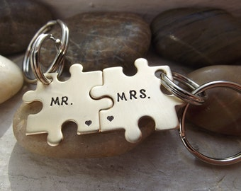Mr and Mrs Puzzle pieces set, Nugold puzzle pieces