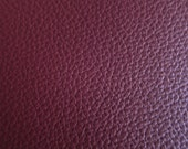 Faux Leather Fabric in Cow Leather Pattern - Maroon - Half Yard