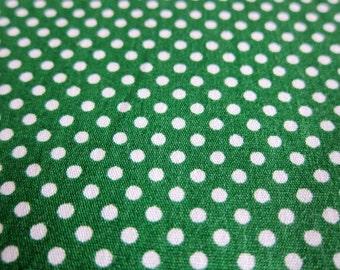 Polka Dots Cotton Fabric - Medium Dots in Hunter Green - Half Yard
