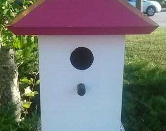 Painted Bird House, Bluebird Houses, Whimsical Birdhouses