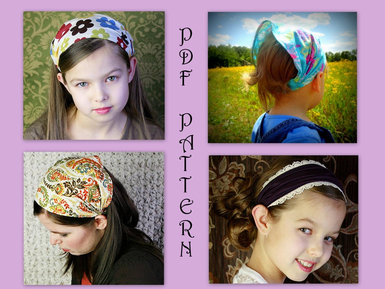 Adult Children Wide Or Narrow Fabric Headband Pattern