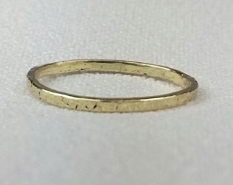 SOLID 14K yellow gold stacker band, stackable ring, stacking ring, Ready to ship, Free US shipping