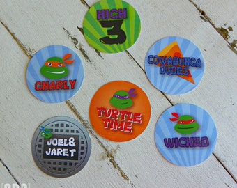 TMNT Stickers ...Set of 12 Stickers