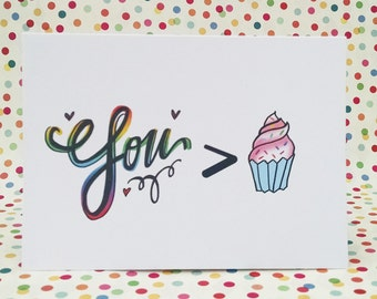 I love you more than cupcakes card, the perfect card to show your love