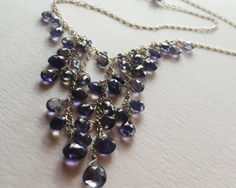 Indigo Waterfall Ioilite Sterling Silver Necklace