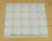 50 Pack 1 1/2 inch Circle Double Sided Adhesive Stickers, Pendant Tray Stickers, Jewelry Stickers (01-15-120)