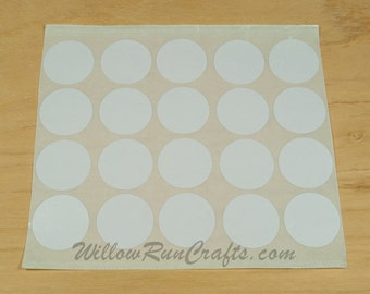 50 Pack 30mm Circle Double Sided Adhesive, Pendant Tray Stickers, Jewelry Stickers (01-15-104)