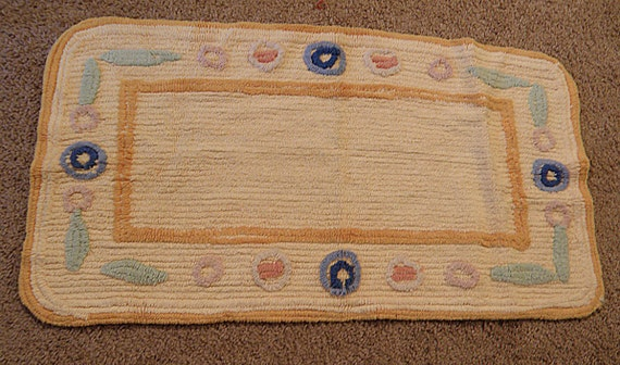 chenille vintage cotton throw rug for bathroom by