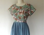 Bear With Me cotton and linen dress Sz 6