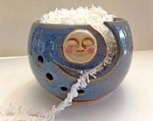 Full Moon Knitting Bowl - Yarn Bowl - Handmade Pottery - Mother's Day Gift