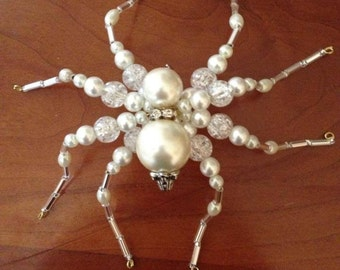 Beaded spider pin.