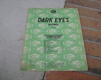 1940 sheet music (   dark eyes )