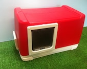 Cat Pod with Large Door, Outdoor Cat House,bed shelter