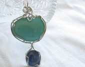 Turquoise and Kyanite Pendant