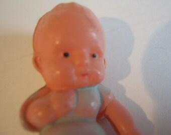 Tiny Celluloid Doll House Baby Doll