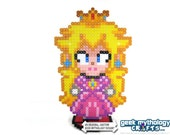 Princess Peach Super Smash Bros - Perler Bead Sprite Pixel Art Character Figure