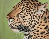 Archival Giclée Open edition print on 100% cotton rag of a Leopard by Nkolika Anyabolu. Signed and dated by artist.