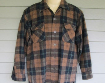 Vintage MMG Plaid Wool Shirt S to M