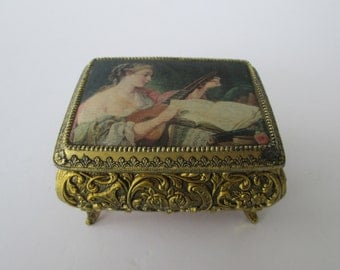 Small Ornate Trinket Music Box
