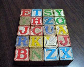 20 wooden blocks