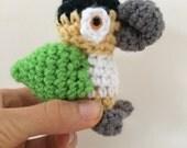 Parrot amigurumi, black headed caique