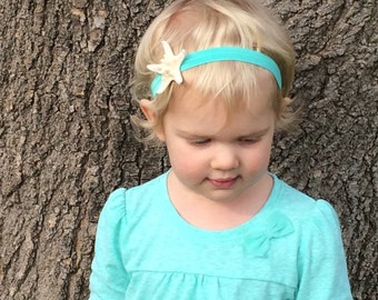 Beachy Knobby starfish headband ~ starfish ~ beach ~ ocean ~sea ~ nautical ~ mermaid ~ mermaids ~ under the sea ~ kids ~ baby
