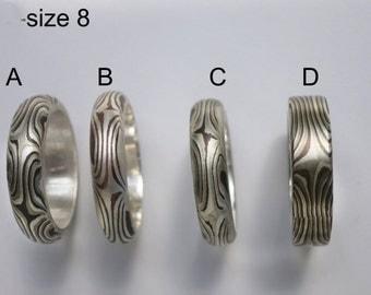 Mokume Gane - Size 8 Designer Rings
