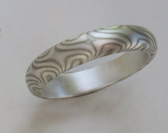 Mokume Ring perfect gift size 6.5, 8 and 8.5