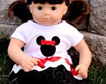 Made to Match Minnie Inspired Outfit for American Girl Doll