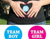 Gender Reveal Stickers Set of 24, Team Boy, Team Girl, Baby Shower, Gender Reveal Party, Girl or Boy
