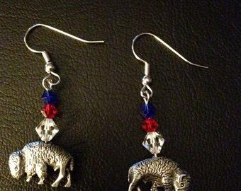 Buffalo Bills Style Earrings