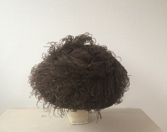 Edwardian Hat / ostrich plume hat / Lord & Taylor hat