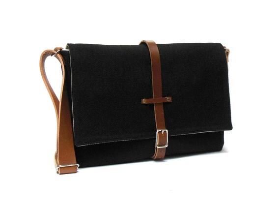macbook air messenger bag black