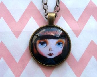 Blythe Doll Pendant Necklace Jewellery - Wearable Art