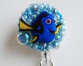 Finding Nemo Dory ID Badge Reel - Retractable ID Badge Holder - Zipperedheart