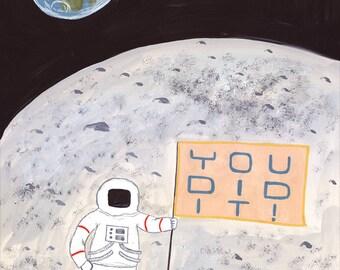 Astronaut Congrats Card