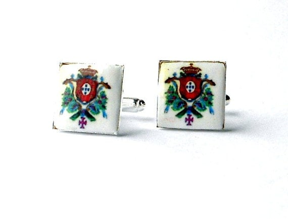Portugal  Royal Seal or Brasao CUFFLINKS